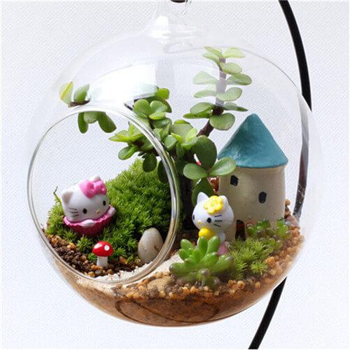 Good Hanging Glass Planter Vase Terrarium Container Home Garden Ball