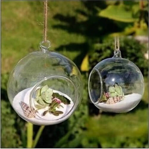 Good Hanging Glass Planter Vase Terrarium Container Home