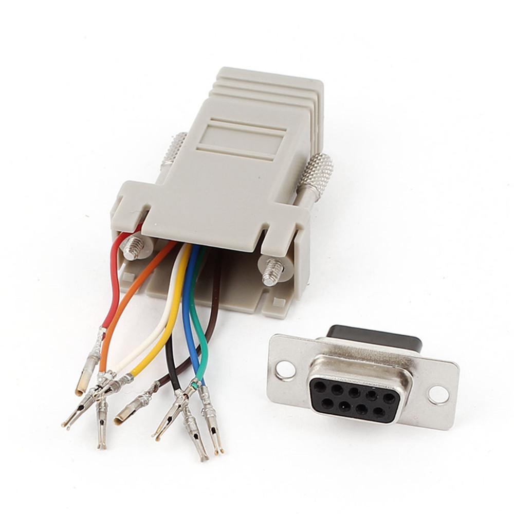 rs232 db9 male female stecker connector zu rj45 female buchse ethernet adapter ebay. Black Bedroom Furniture Sets. Home Design Ideas