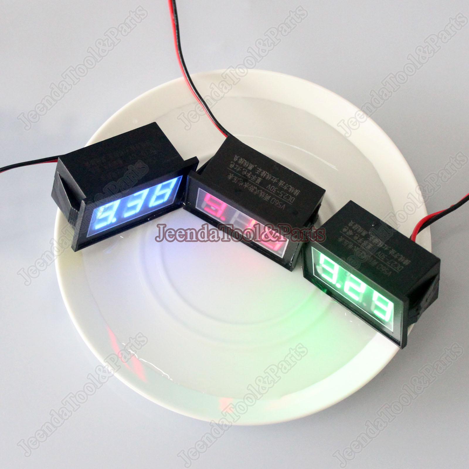 12v Battery Monitor : Big waterproof monitor v battery meter dc auto