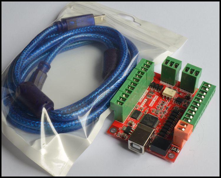 4x TB6560 Driver 4x 57 Motor 4 AxisCNC USB MACH3 Controller Breakout Board
