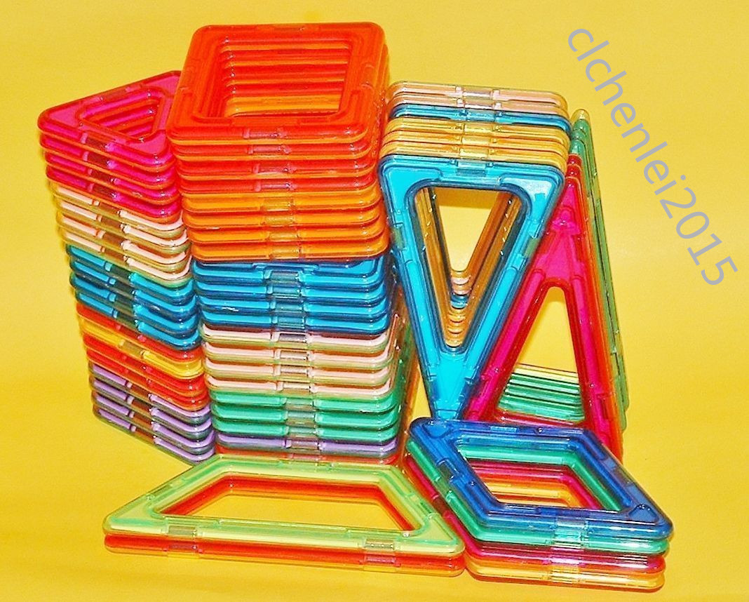 62pcs Magformers Toy 3D Bricks Magnetic Building Blocks