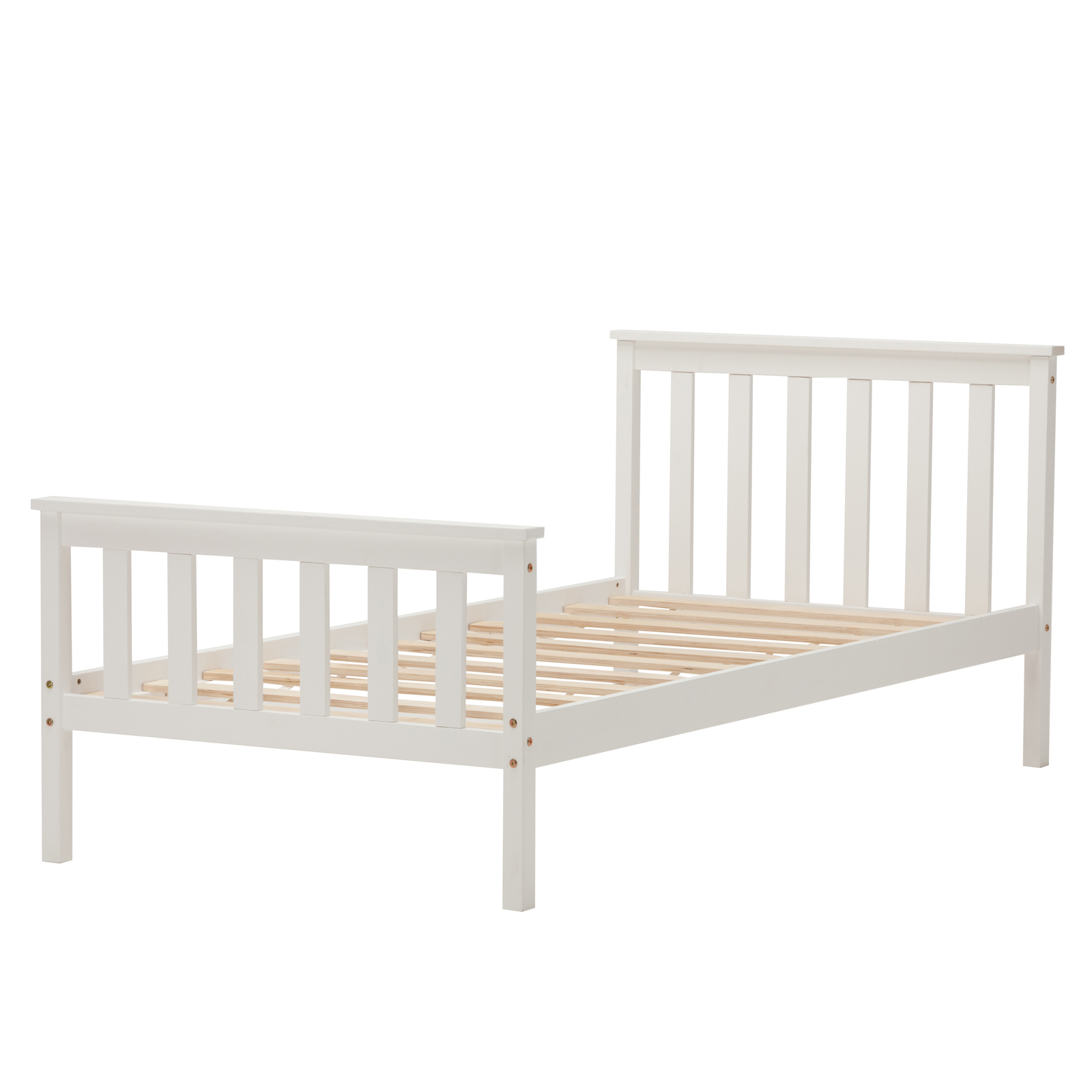 White Wood Single Bed Frame Home Decorating Pictures Single White Bed Frame Home Decorating
