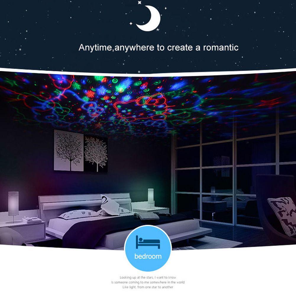 Pretty Star Moon Sky Starry Night Projector Led Light Lamp