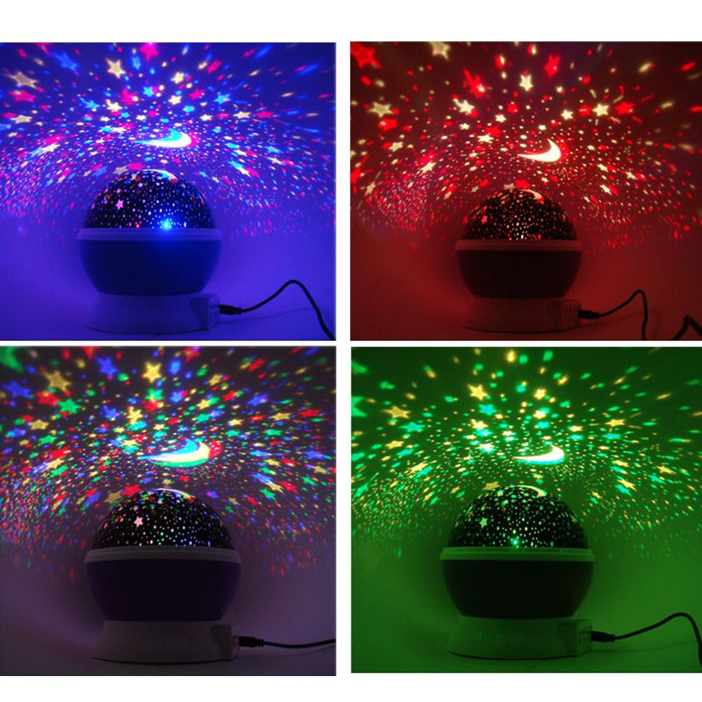 Pretty Star Moon Sky Starry Night Projector Led Light Lamp