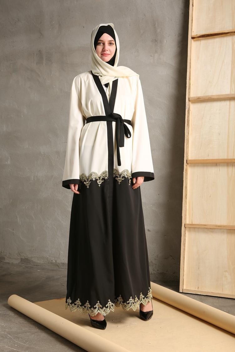 Dubai Muslim Abaya Kaftan Long Cardigan Islamic Cocktail Arab Maxi ...