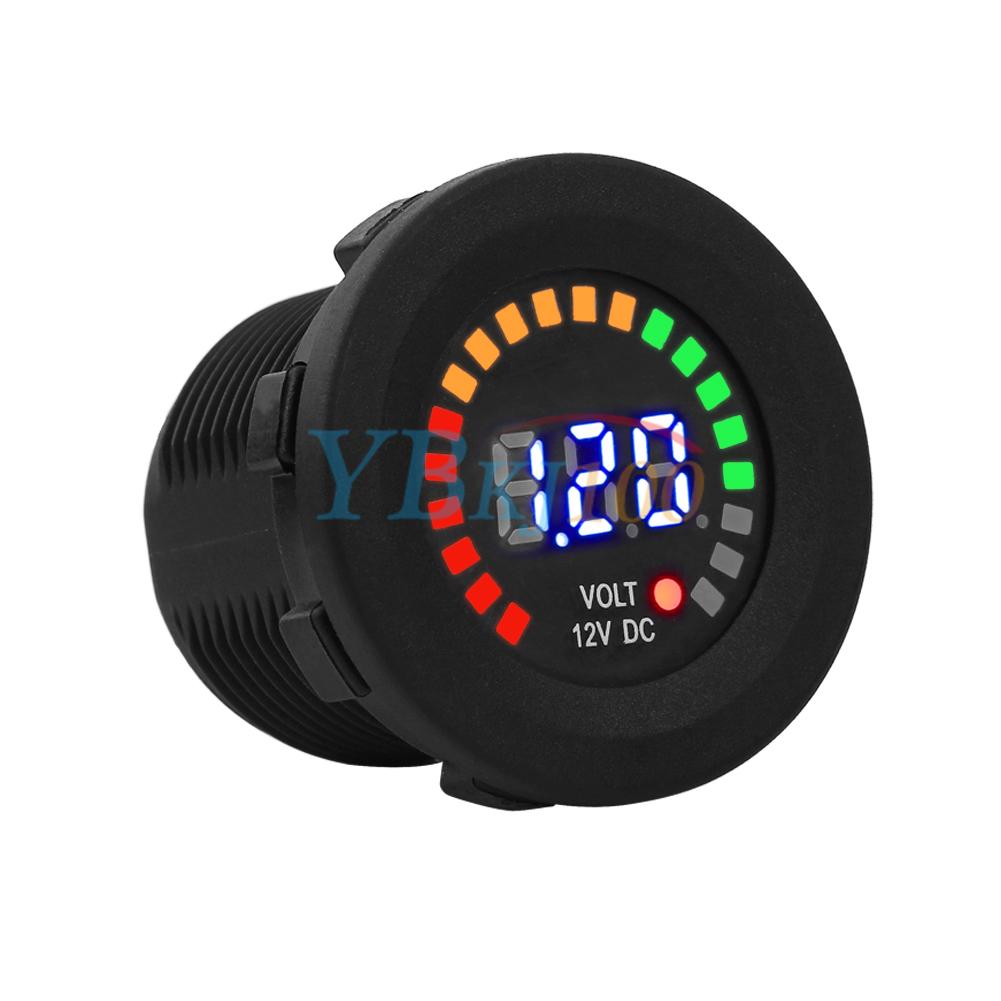 Digital Voltage Meter For Car : Led digital display dc car boat gauge auto atv
