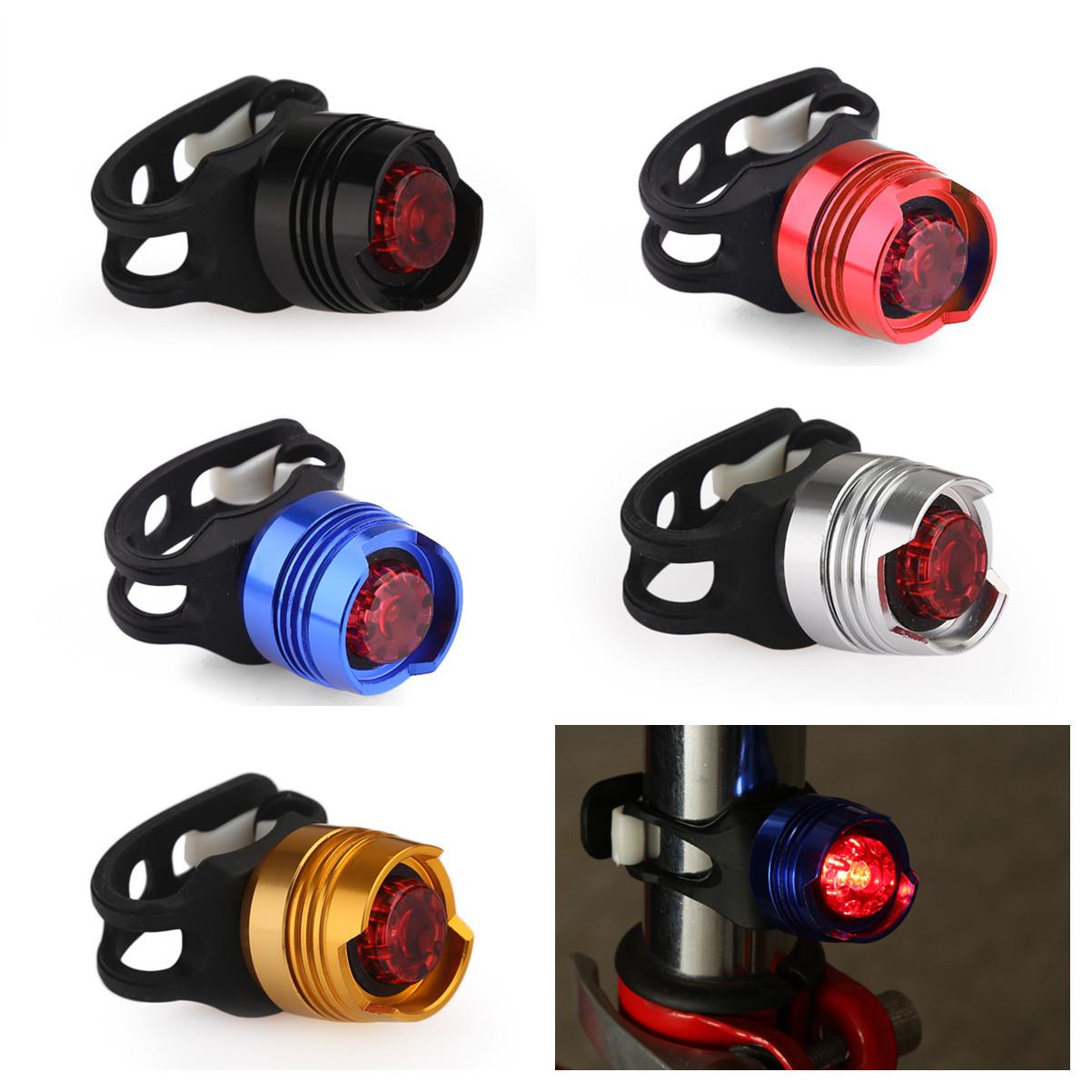 led fahrrad r cklicht lampe wasserdicht mit cr2032 akku rot licht fahrradlicht ebay. Black Bedroom Furniture Sets. Home Design Ideas