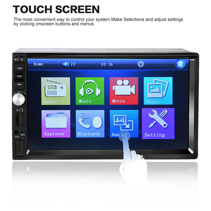 7hd hdmi car dvd player touch screen stereo monitor usb