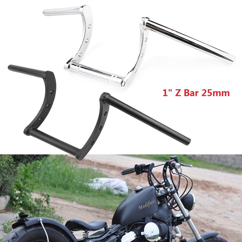 "Universal Motorcycle Chrome 7/8""&1"" Drag Handlebar Z Bar ..."