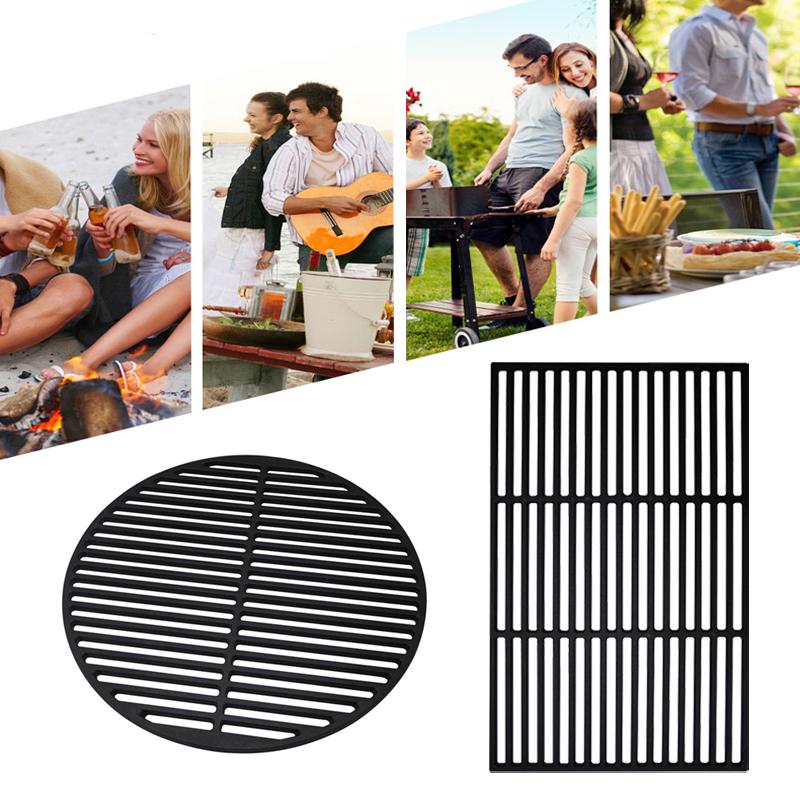 2x grillrost gu eisen gusseisen grillgitter guss grill emailliert grillaufsatz ebay. Black Bedroom Furniture Sets. Home Design Ideas