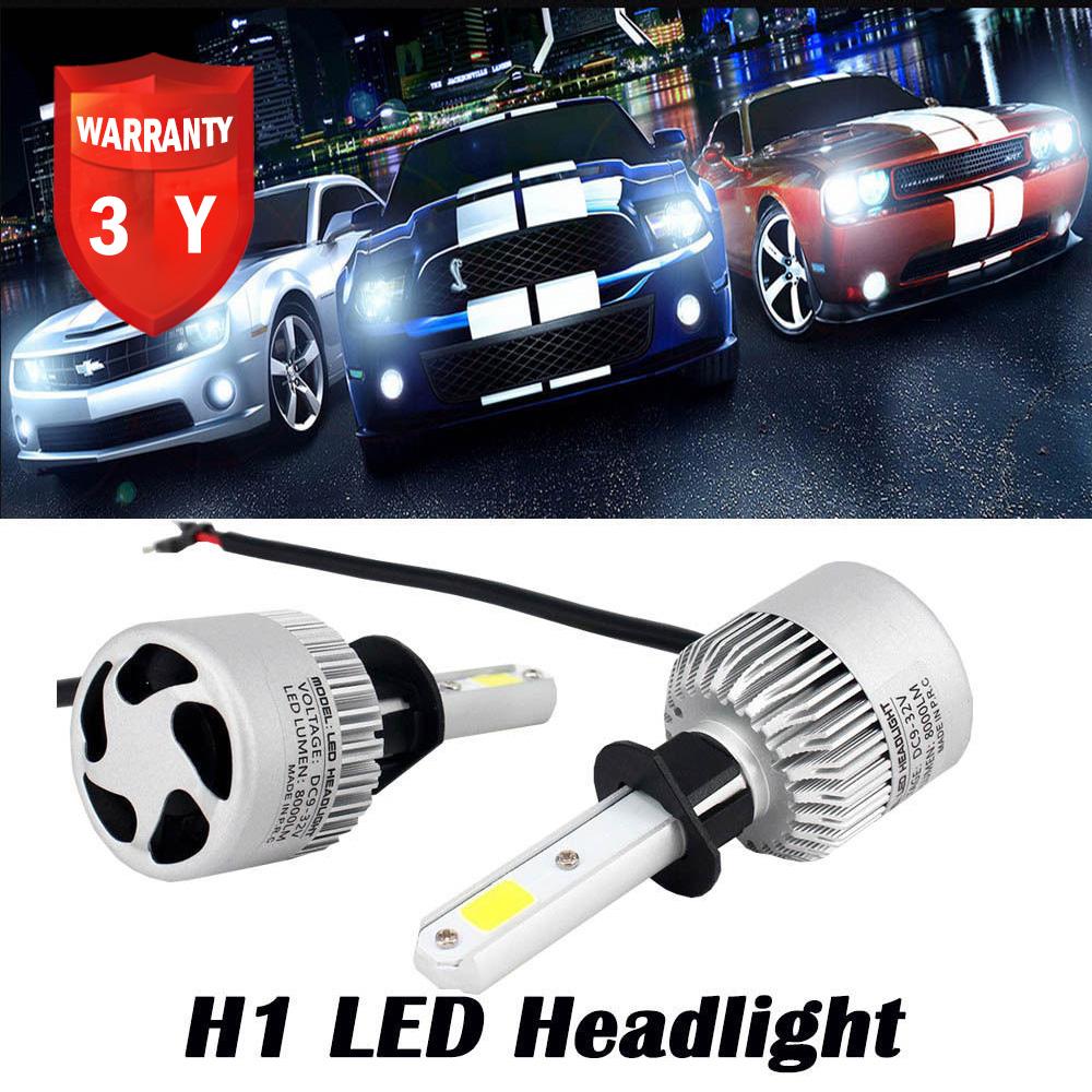 h1 16000lm 72w led car headlights kit bulbs conversion fog. Black Bedroom Furniture Sets. Home Design Ideas