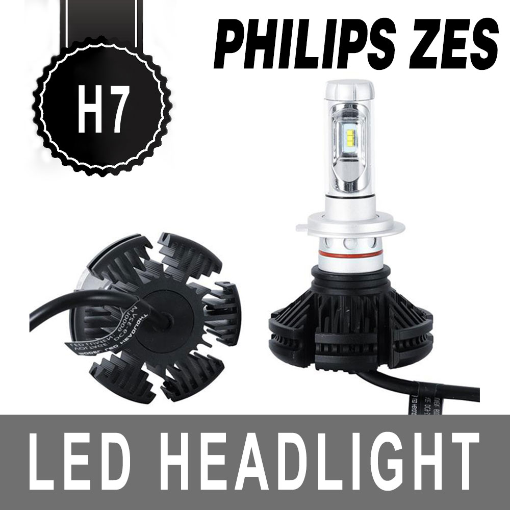 pair philips pair h7 100w 12000lm led car headlights kits. Black Bedroom Furniture Sets. Home Design Ideas