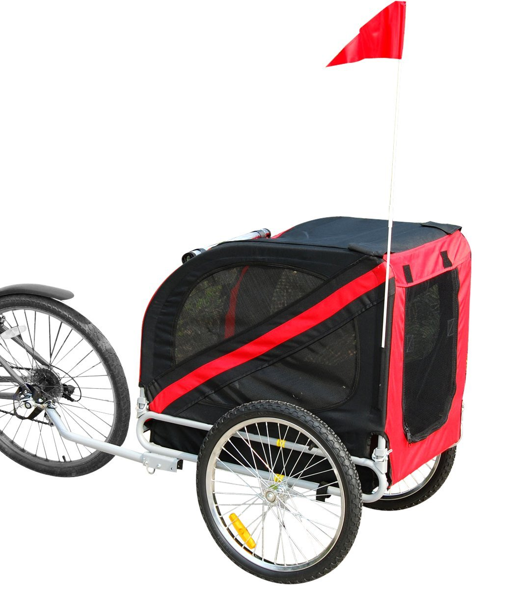 Folding Pet Bicycle Trailer Dog Cat Bike Carrier W