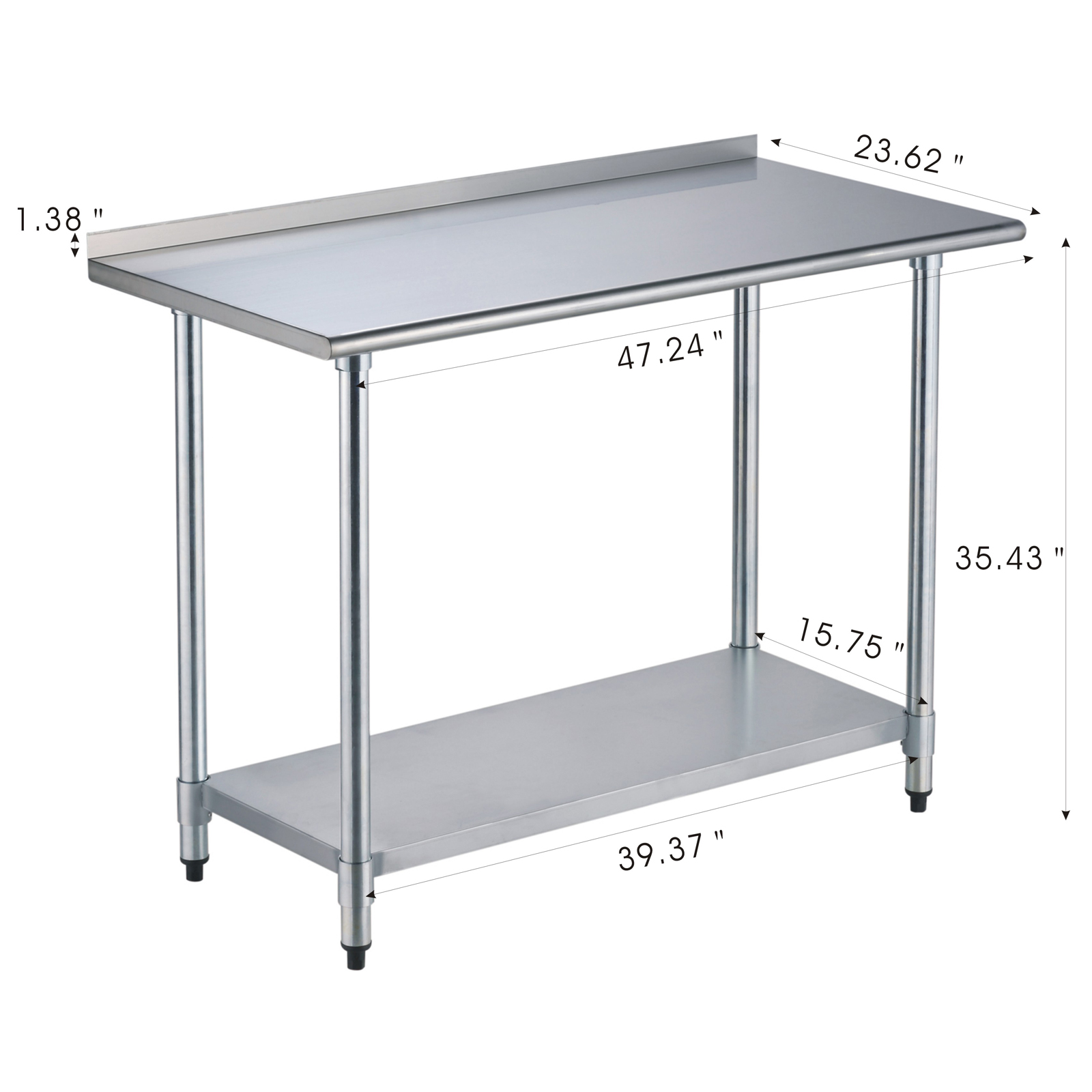 kitchen work table with storage 24 quot x 48 quot work prep table stainless steel kitchen 8772
