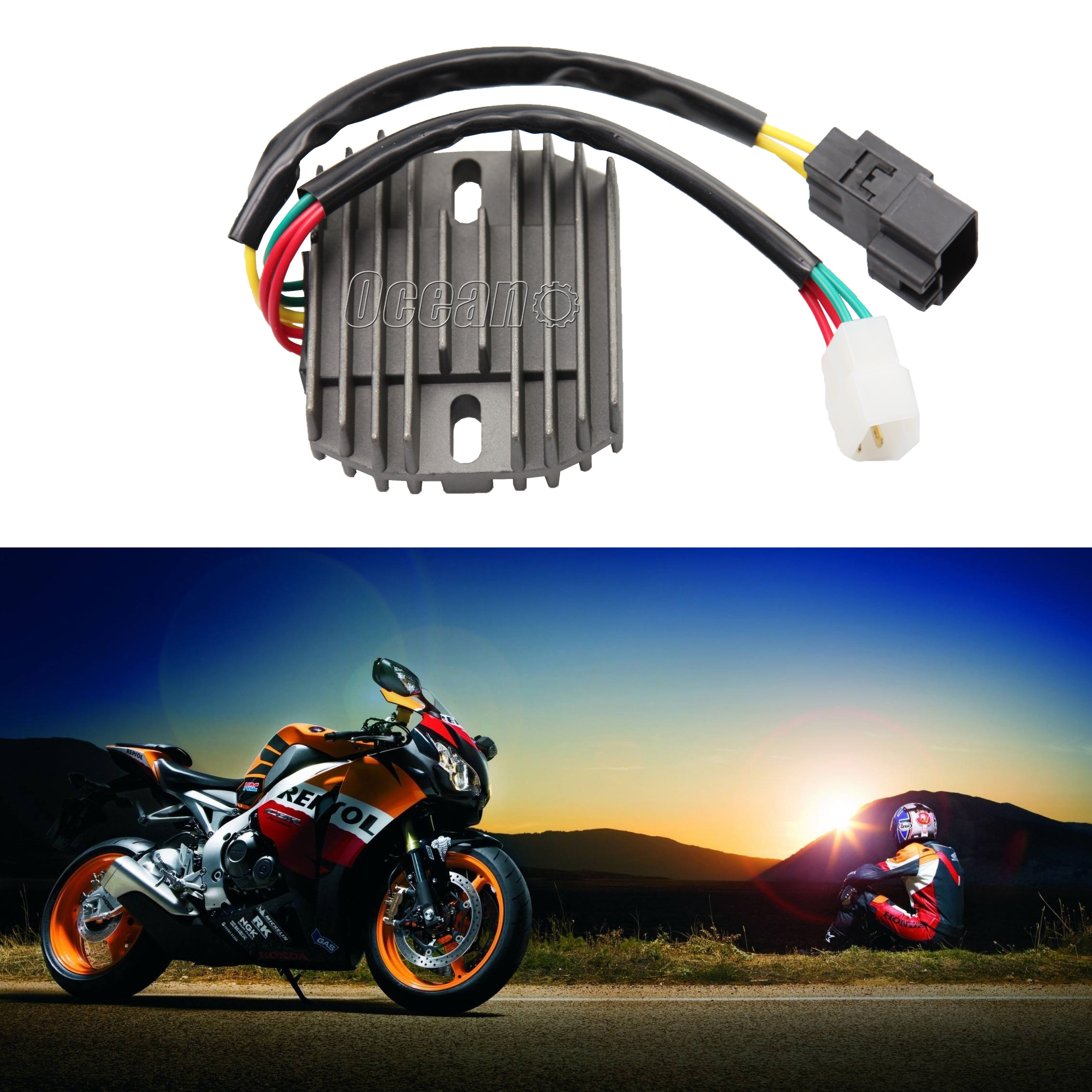 New Voltage Regulator Rectifier For Honda Cbr600f4 Cbr600f4i 2001 2006 Cbr 600 F4i