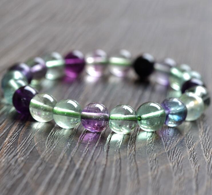 """10 mm Faceted Watermelon Tourmaline ronde perles Stretch Bracelet 7.5/"""" AAA"""