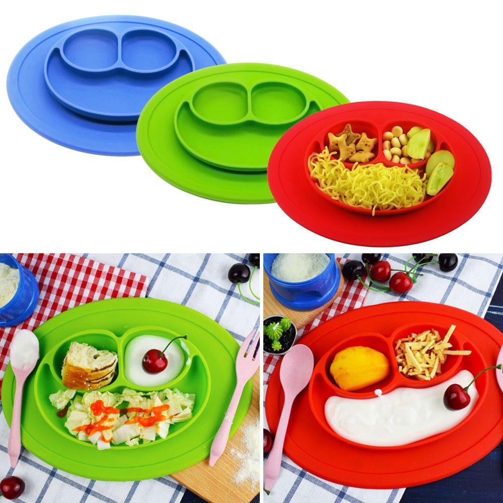 silikon baby kinder teller rutschfest tischset geschirr unterteilt 3 platten ebay. Black Bedroom Furniture Sets. Home Design Ideas