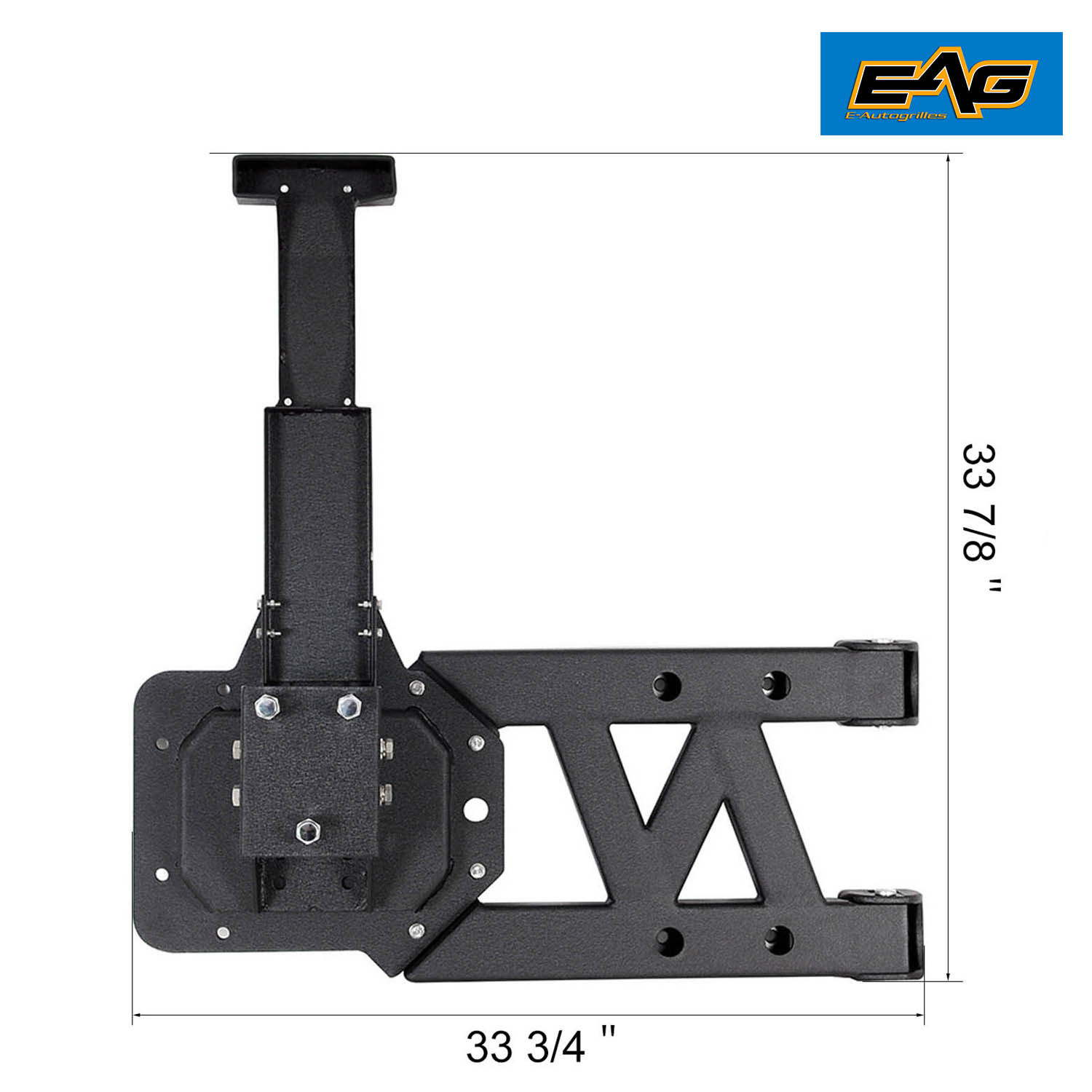 Eag Cold Rolled Steel Heavyduty Hinged Tire Carrier For 07