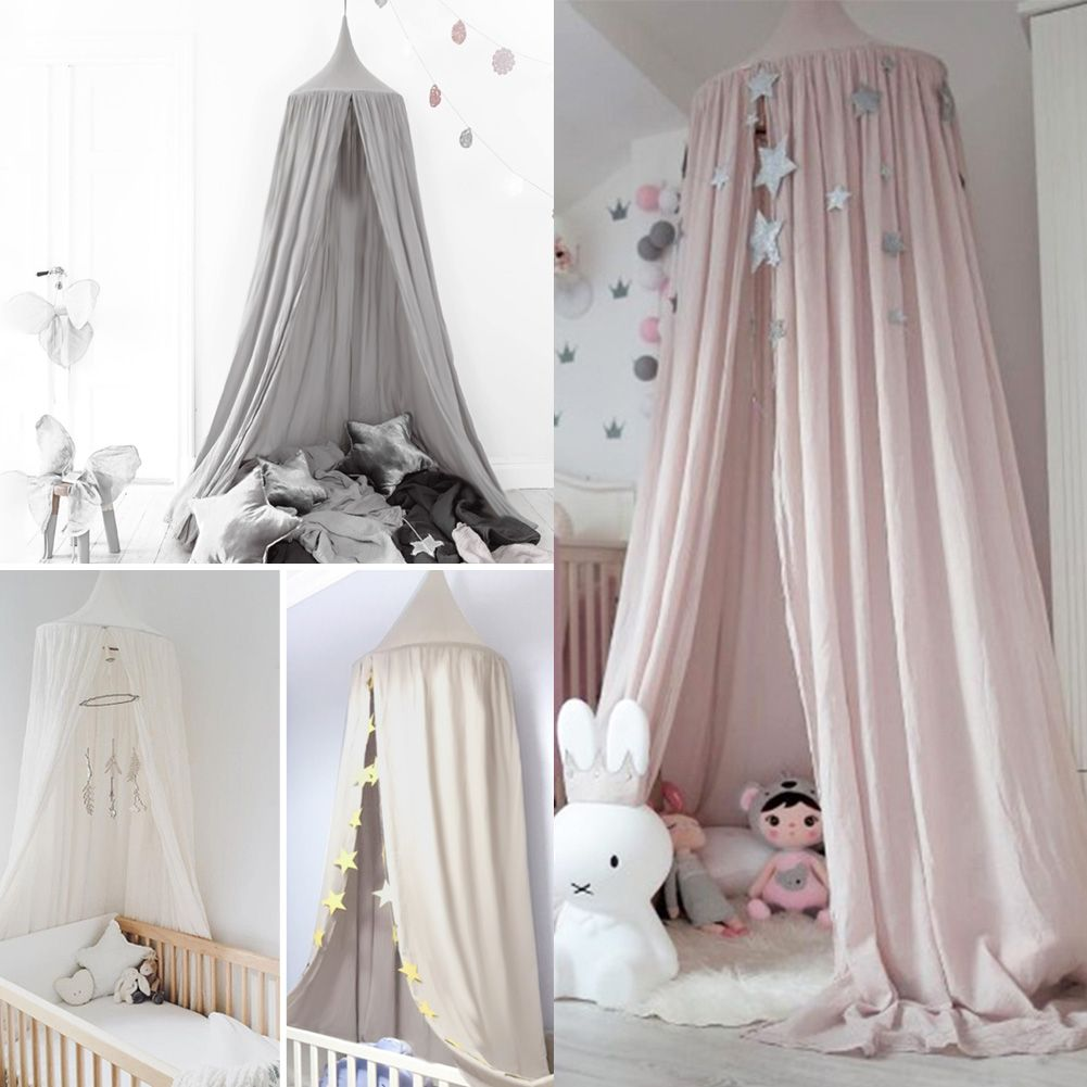 Kids Baby Bed Canopy Bedcover Mosquito Net Curtain Bedding Dome Tent Cotton US & Kids Baby Bed Canopy Bedcover Mosquito Net Curtain Bedding Dome ...
