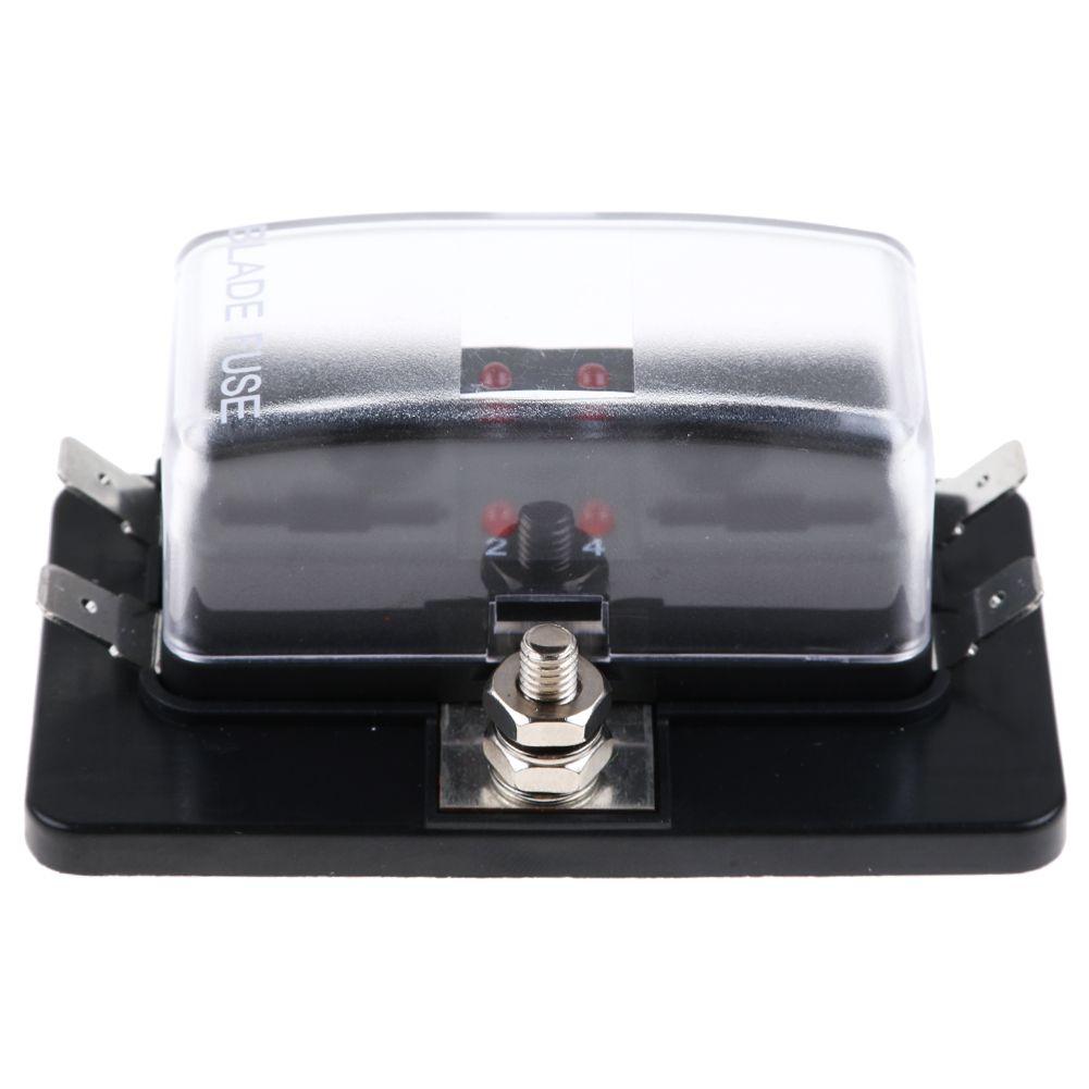 4 way blades fuse box hold led warning light kit for car. Black Bedroom Furniture Sets. Home Design Ideas