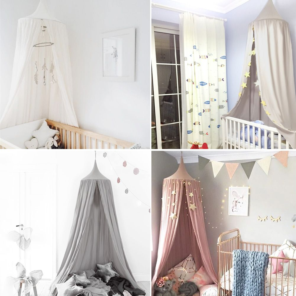 Details about Baby Kids Bed Canopy Netting Curtain Fly Midge Insect Cot Mosquito Net Bedcover  sc 1 st  eBay & Baby Kids Bed Canopy Netting Curtain Fly Midge Insect Cot Mosquito ...