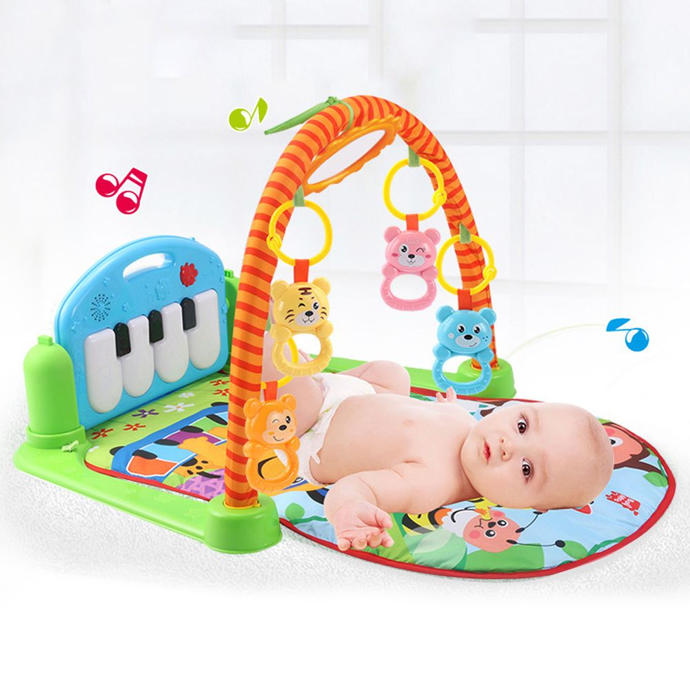 Baby Toy Rug: Musical Baby Activity Playmat Gym Animal Toy Soft Play Mat