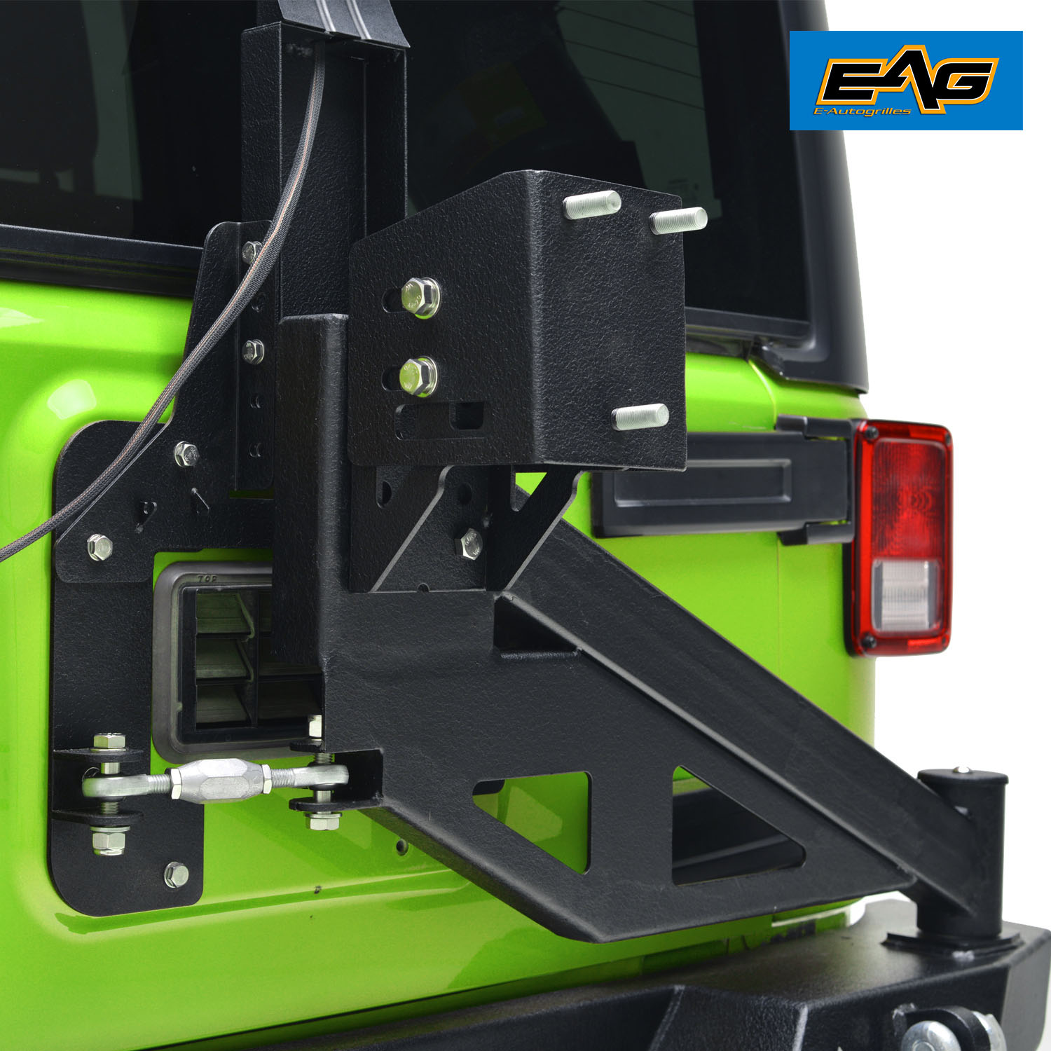 Rear Bumper With Tire Carrier Amp Linkage Amp 3rd Brake Light