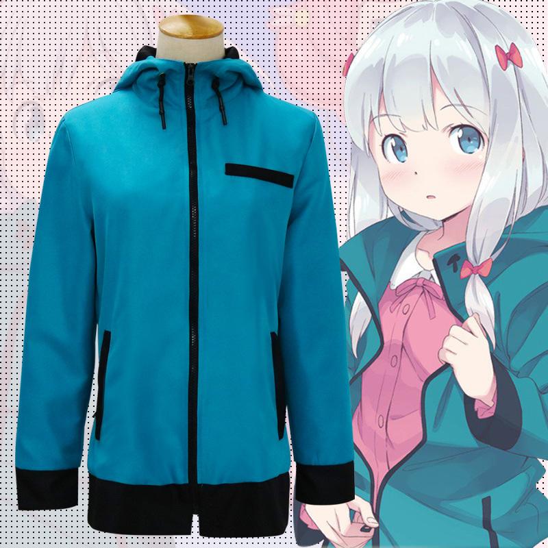 Eromanga Sensei Izumi Sagiri Green Hoodie Jacket Coat Sweatshirt Cosplay Costume