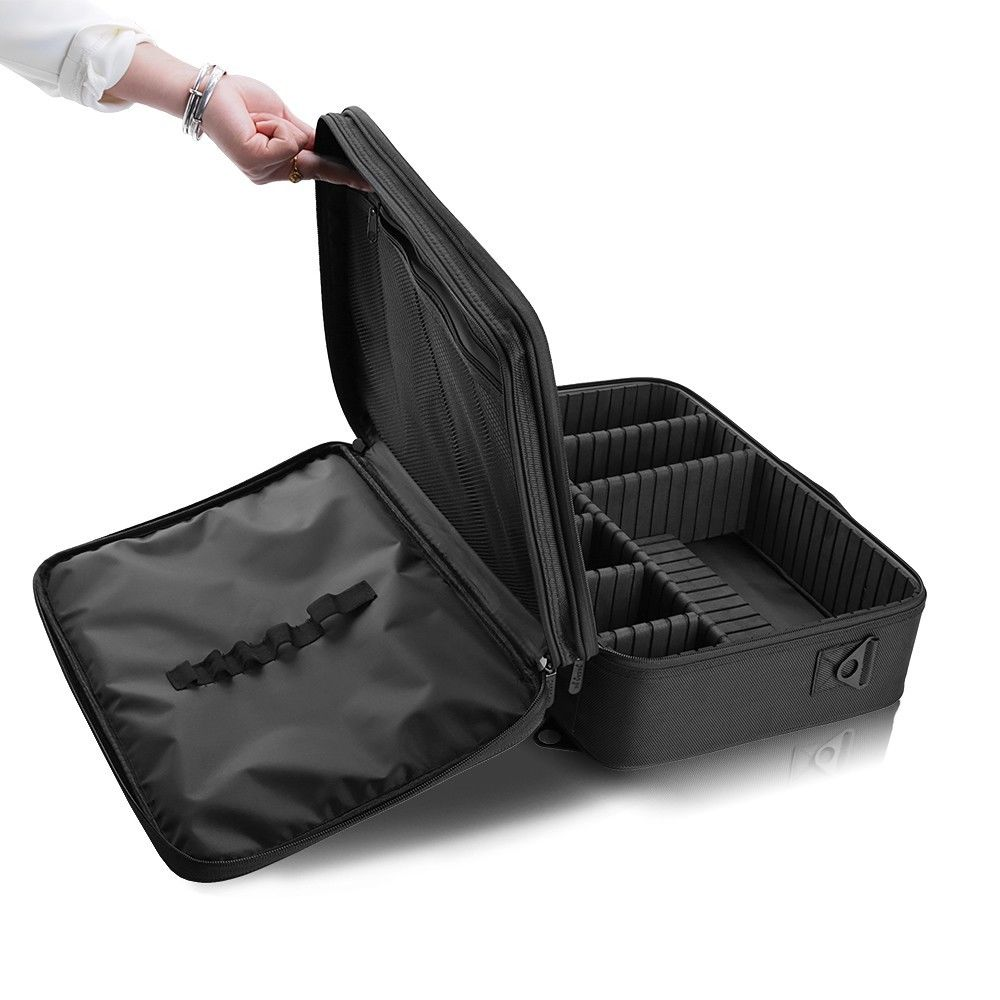 Black Cosmetic Make Up Case Hairdressing Vanity Beauty Box