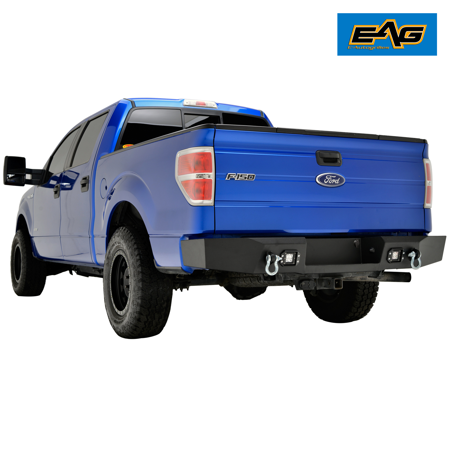 Steel Rear Bumper With Two 12w Square Led Lights For 09 14
