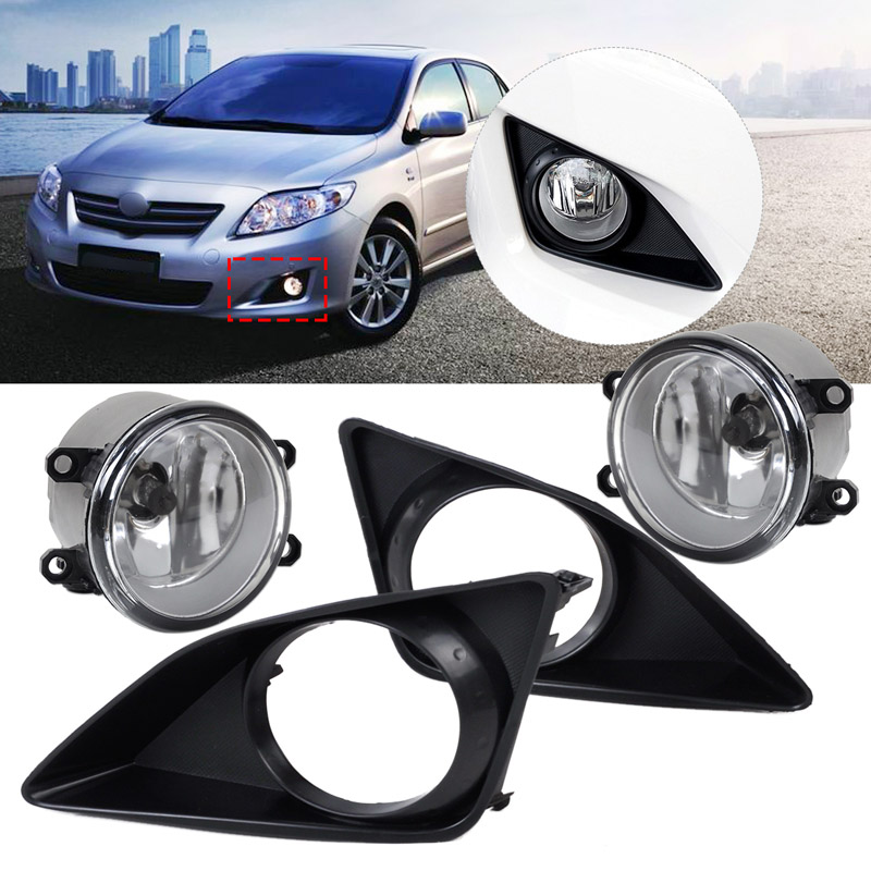 Front Fog Light Bumper Grille Cover Bezel Trim For Toyota Corolla 2007-2010 st