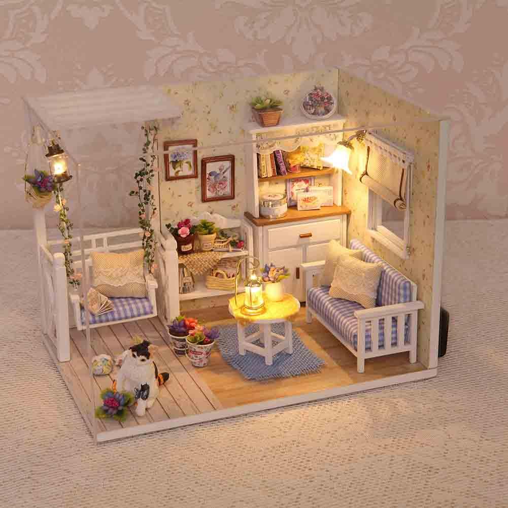 Delicate DIY Passion Assembled Wooden Dollhouse Miniature