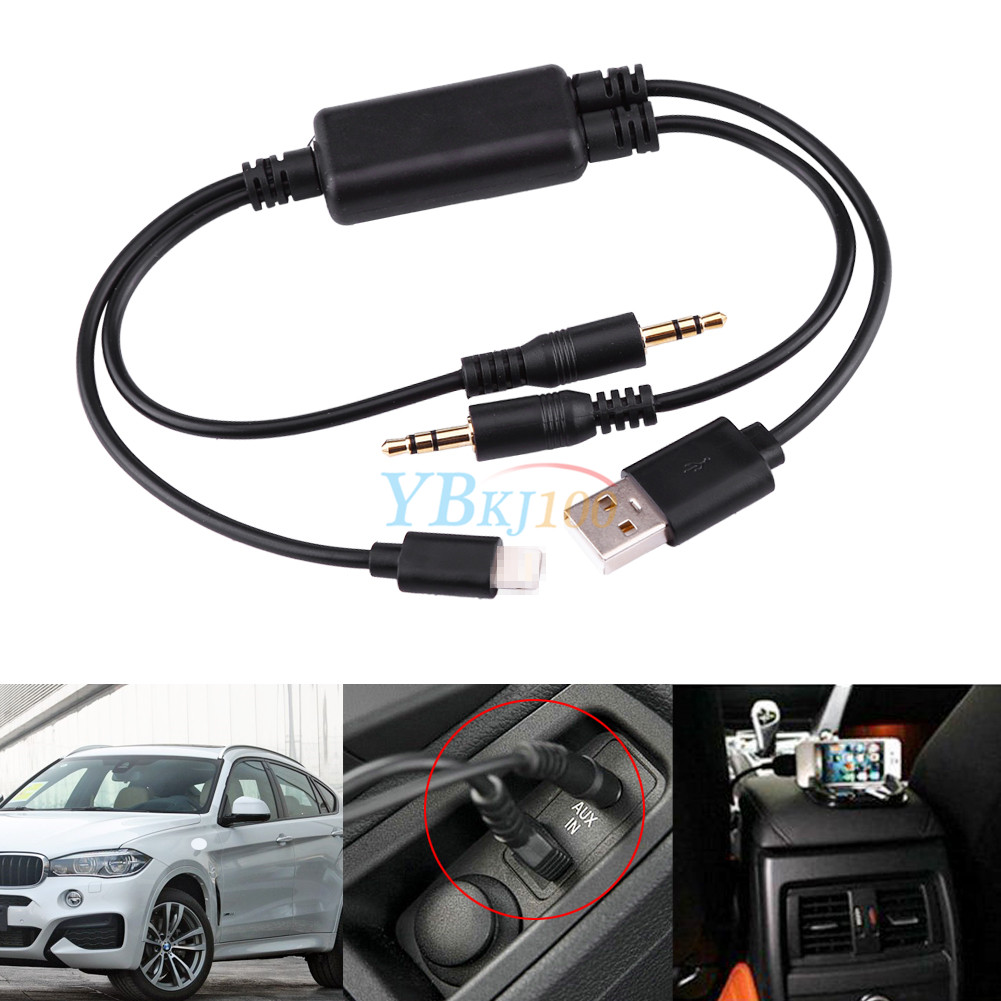 3 5mm Audio Stereo Usb Aux Adapter Interface Cable For Ipod Iphone Bmw X1 X5 X6 Ebay