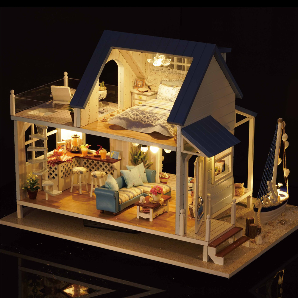 Delicate DIY Passion Assembled Wooden Dollhouse Miniature