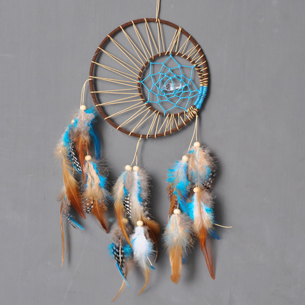 diy native american decor home american catcher feathers hanging 10782