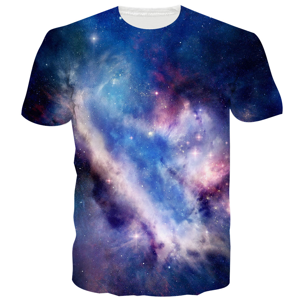 Design t shirt galaxy - Fancy Psychedelic Galaxy Space Design 3d Print Men