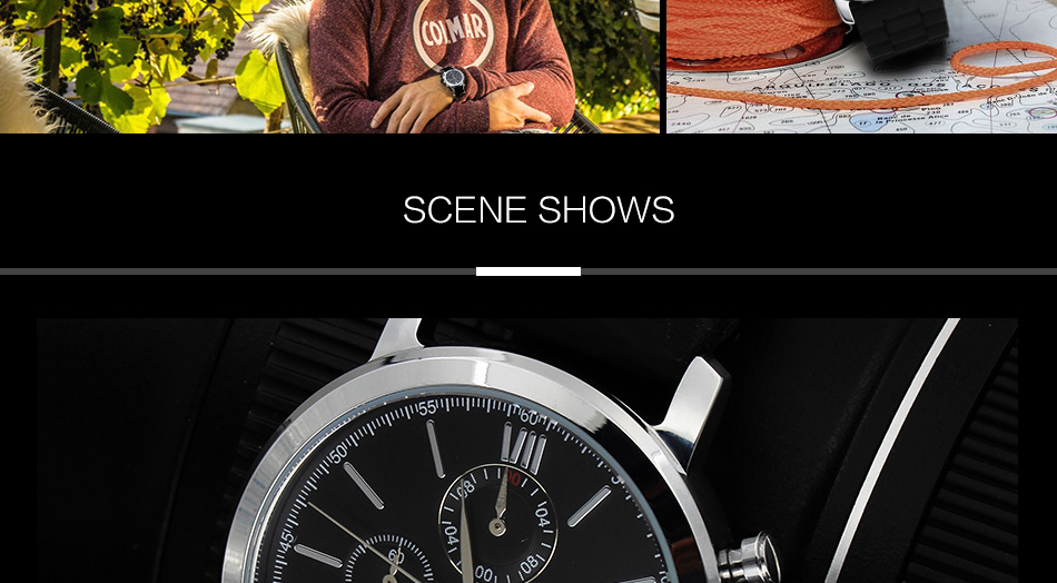 Luxury Brand Waterproof Gents Rubber Bracelet Strap Watches With Gift