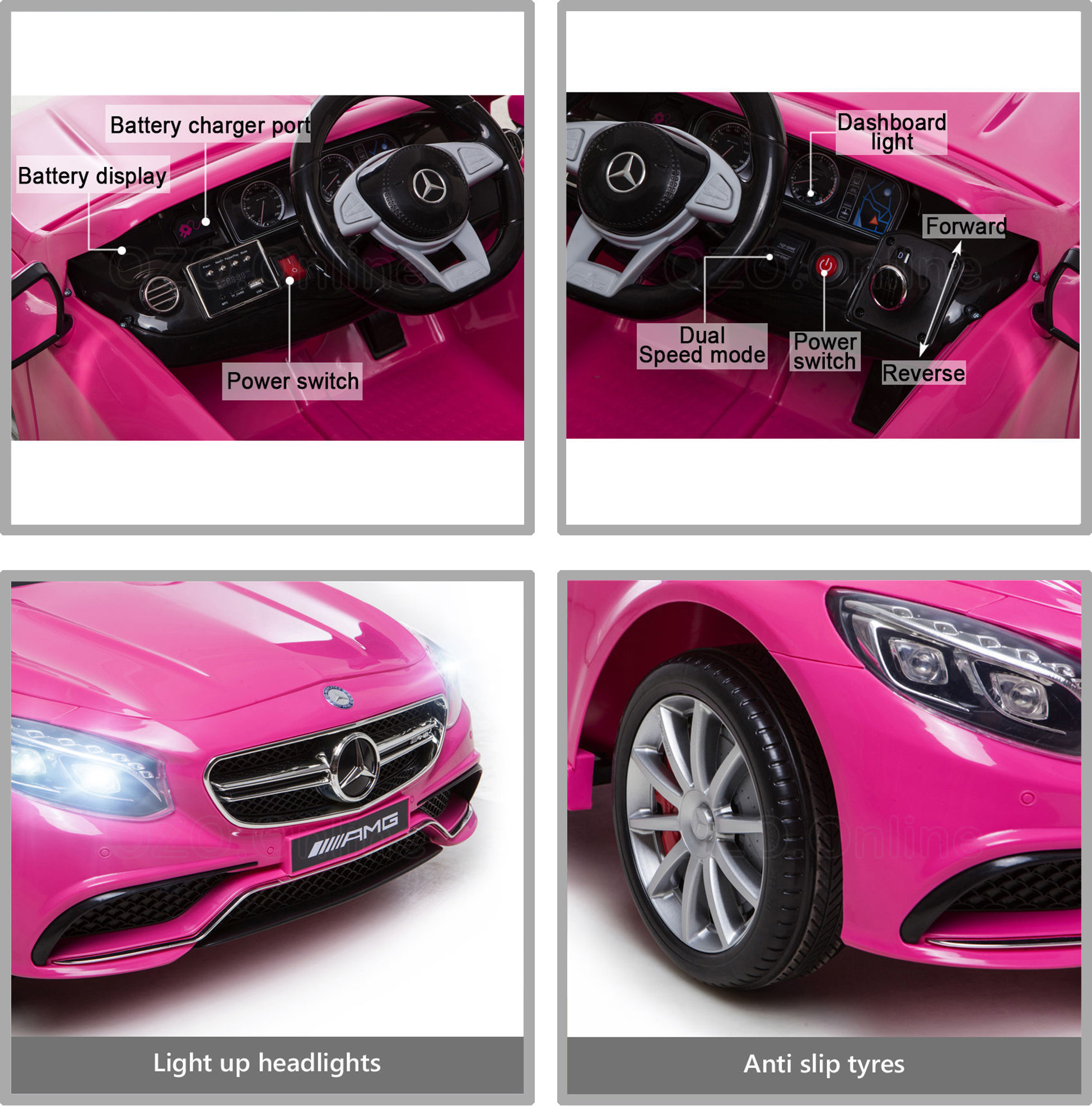 Kid electric licensed mercedes benz amg s63 child ride on for Mercedes benz for kids