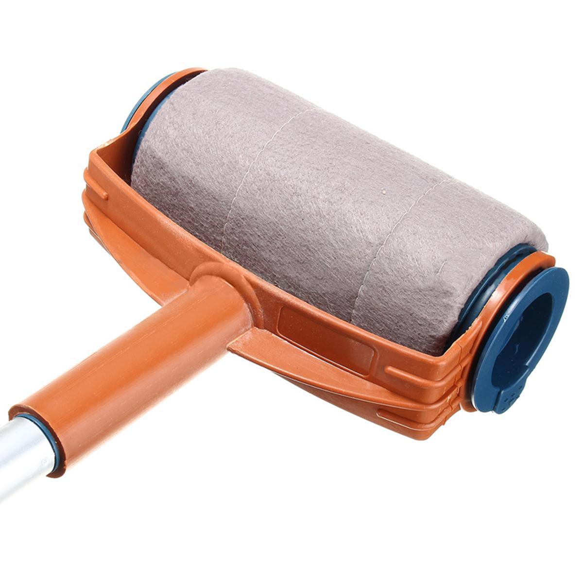 6pcs set paint roller brush handle pro flocked edger room. Black Bedroom Furniture Sets. Home Design Ideas