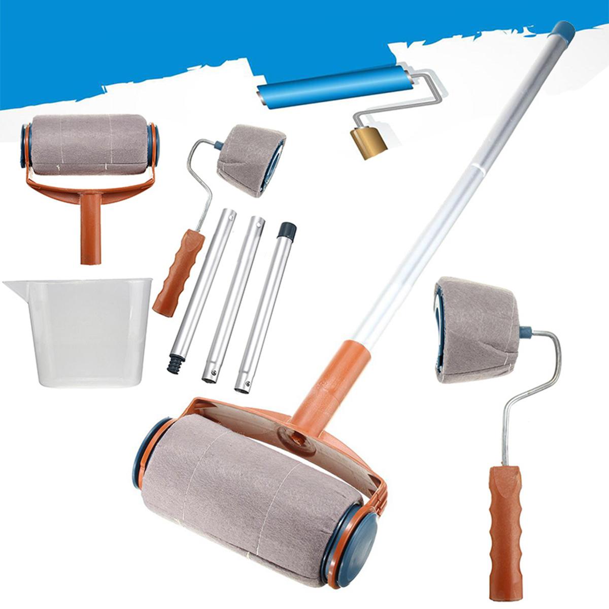6pcs set paint roller brush handle pro flocked edger room wall painting runner k ebay. Black Bedroom Furniture Sets. Home Design Ideas