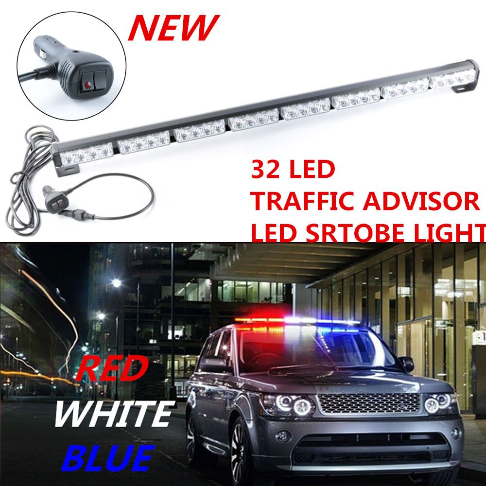 emergency warning traffic advisor strobe light bar red white blue. Black Bedroom Furniture Sets. Home Design Ideas