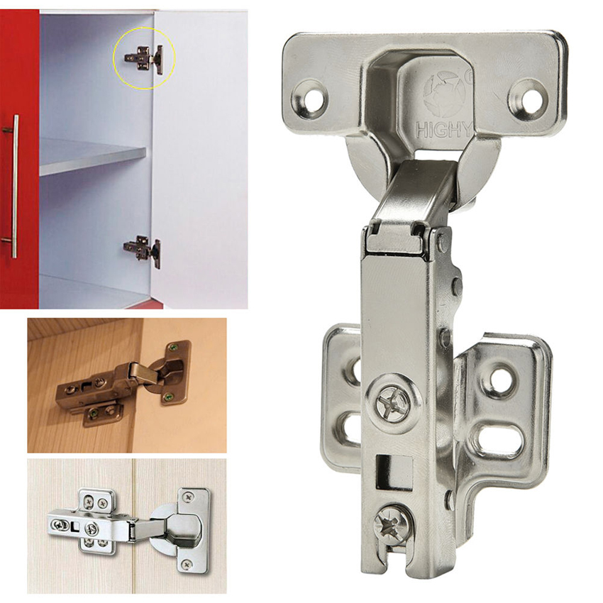 Home Kitchen Safety Stainless Steel Hinges Close Full Overlay Cabinet Cupboard C