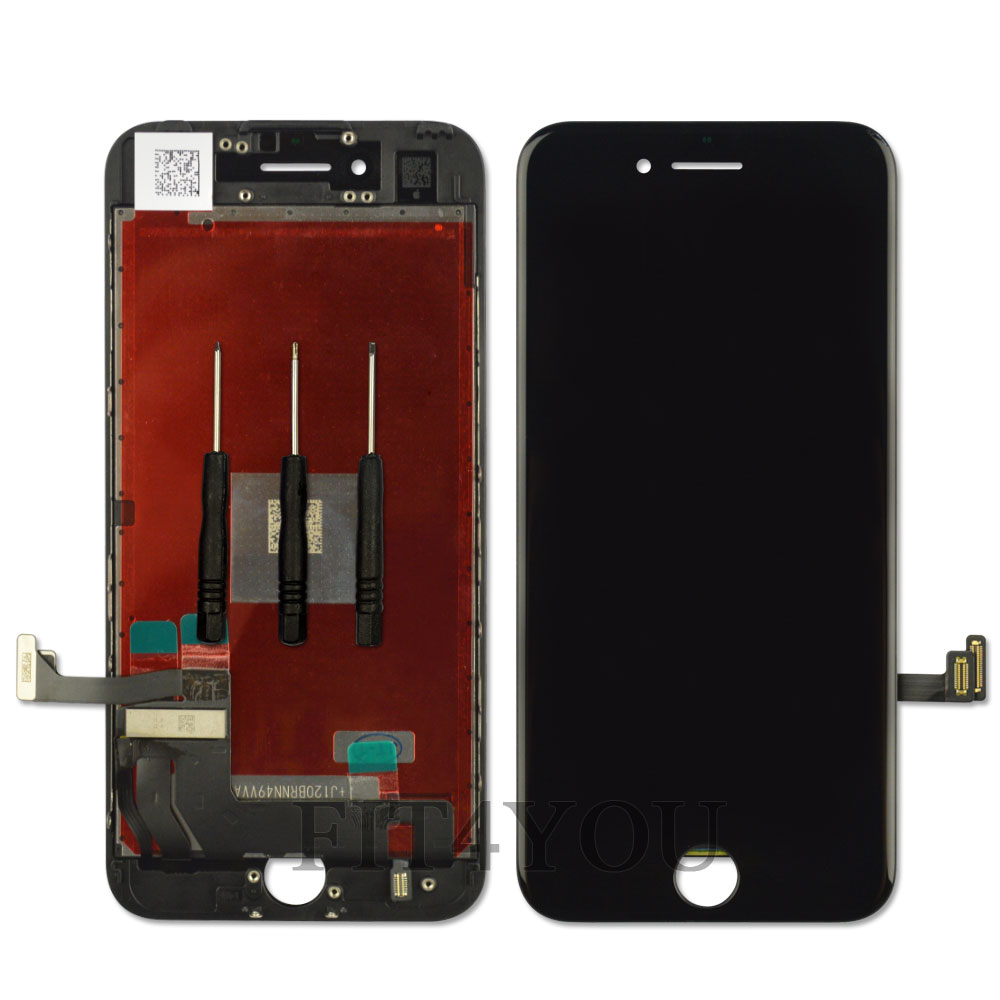 for iphone 7 4 7 black lcd touch screen display digitizer replacement assembly ebay. Black Bedroom Furniture Sets. Home Design Ideas