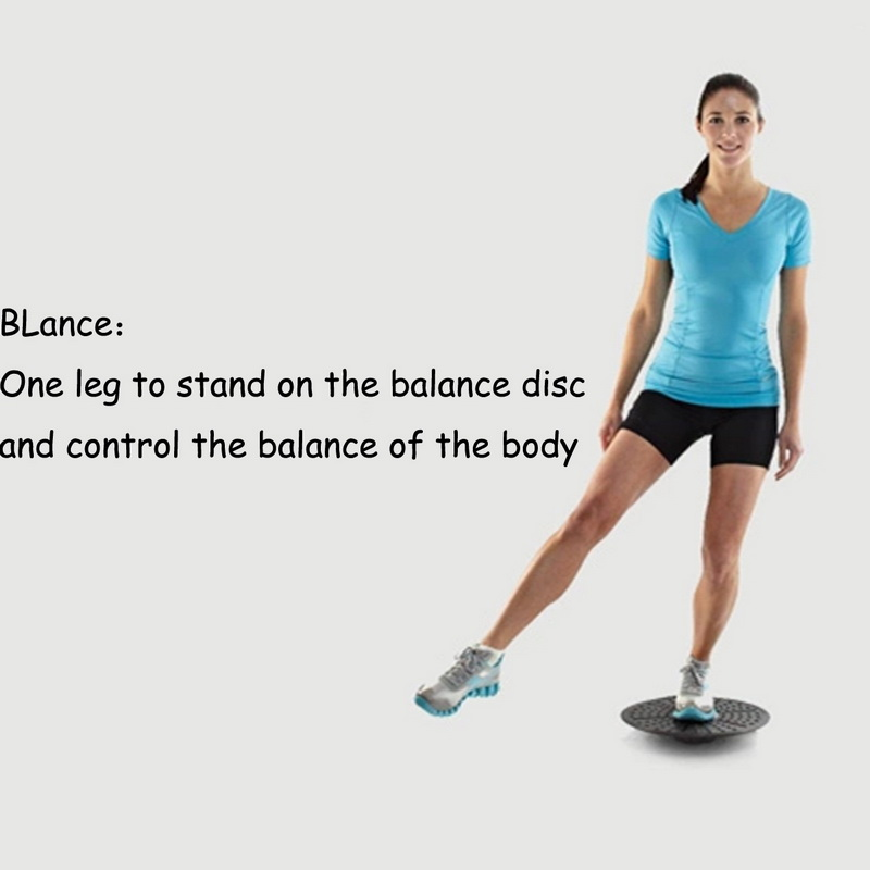 Balance Board Exercises For Knee: Delicate Yoga Wobble Balance Board Ankle Knee Exercise