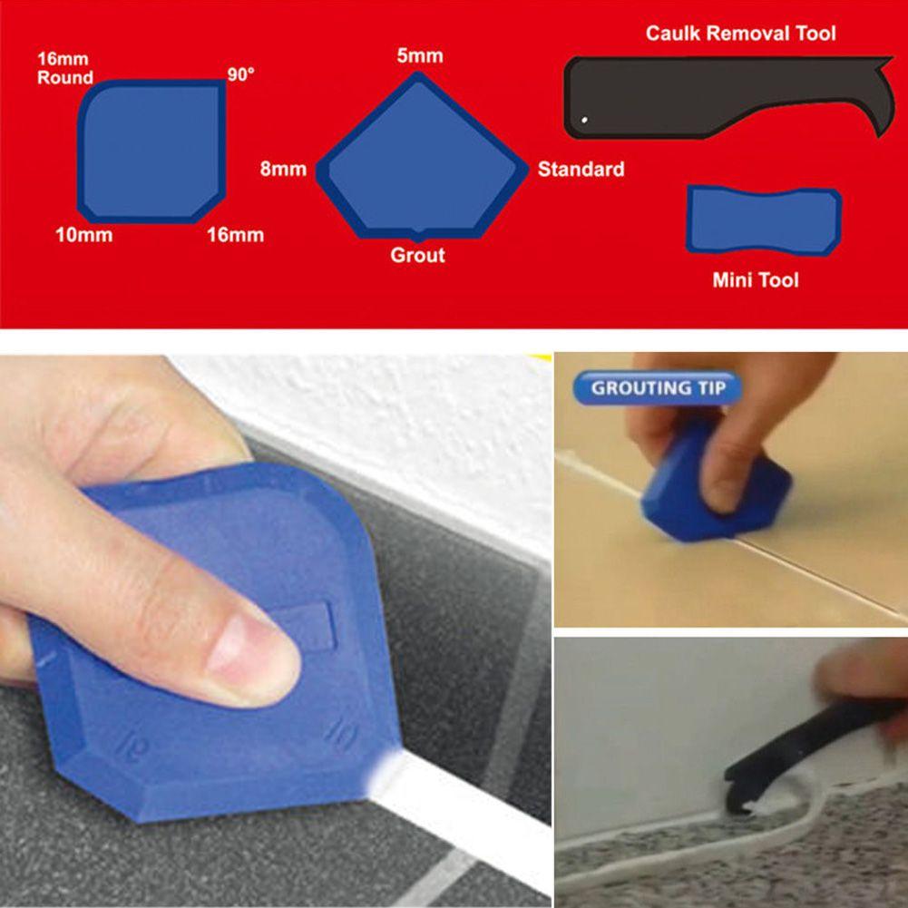 4pcs set silicone sealant spreader spatula scraper cement. Black Bedroom Furniture Sets. Home Design Ideas