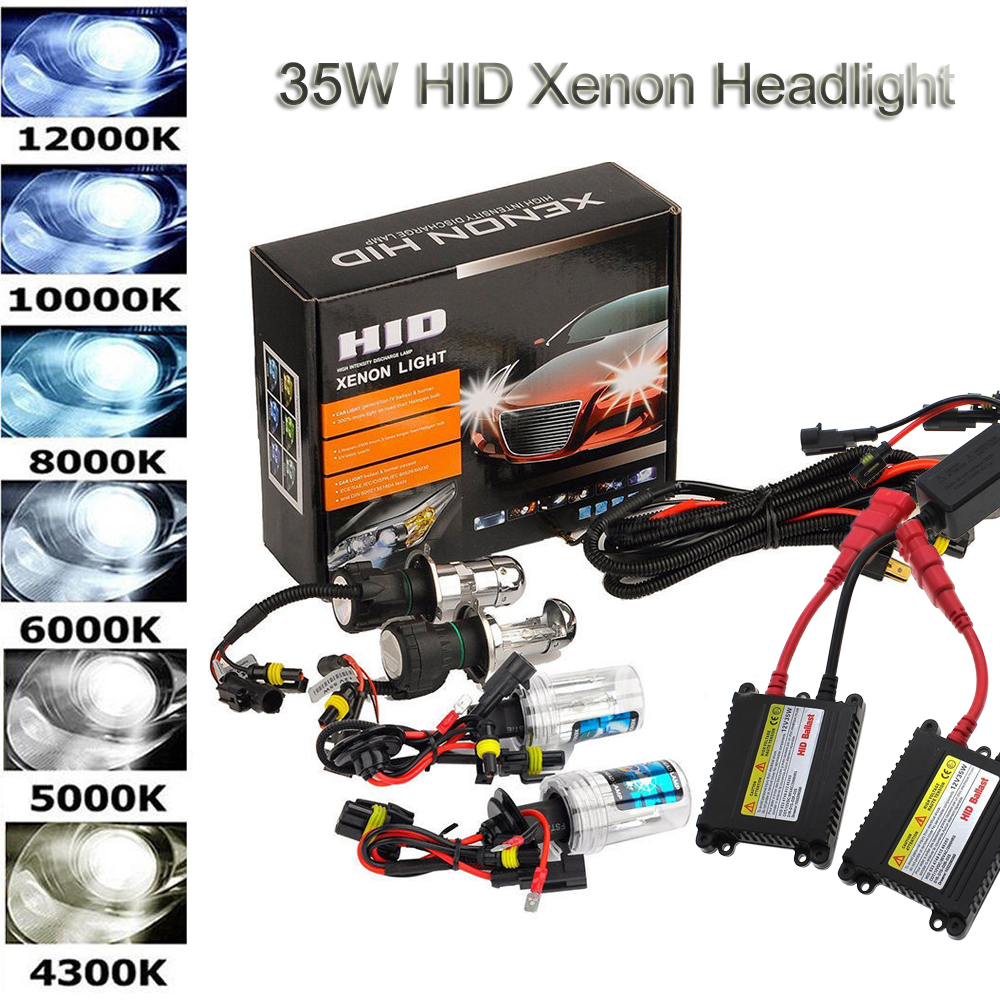 BOOMBOOST 55W HID Xenon Kit 6000K H1 xenon hid ballast HID Xenon Light bulb Headlight Lamp 12V xenon kit
