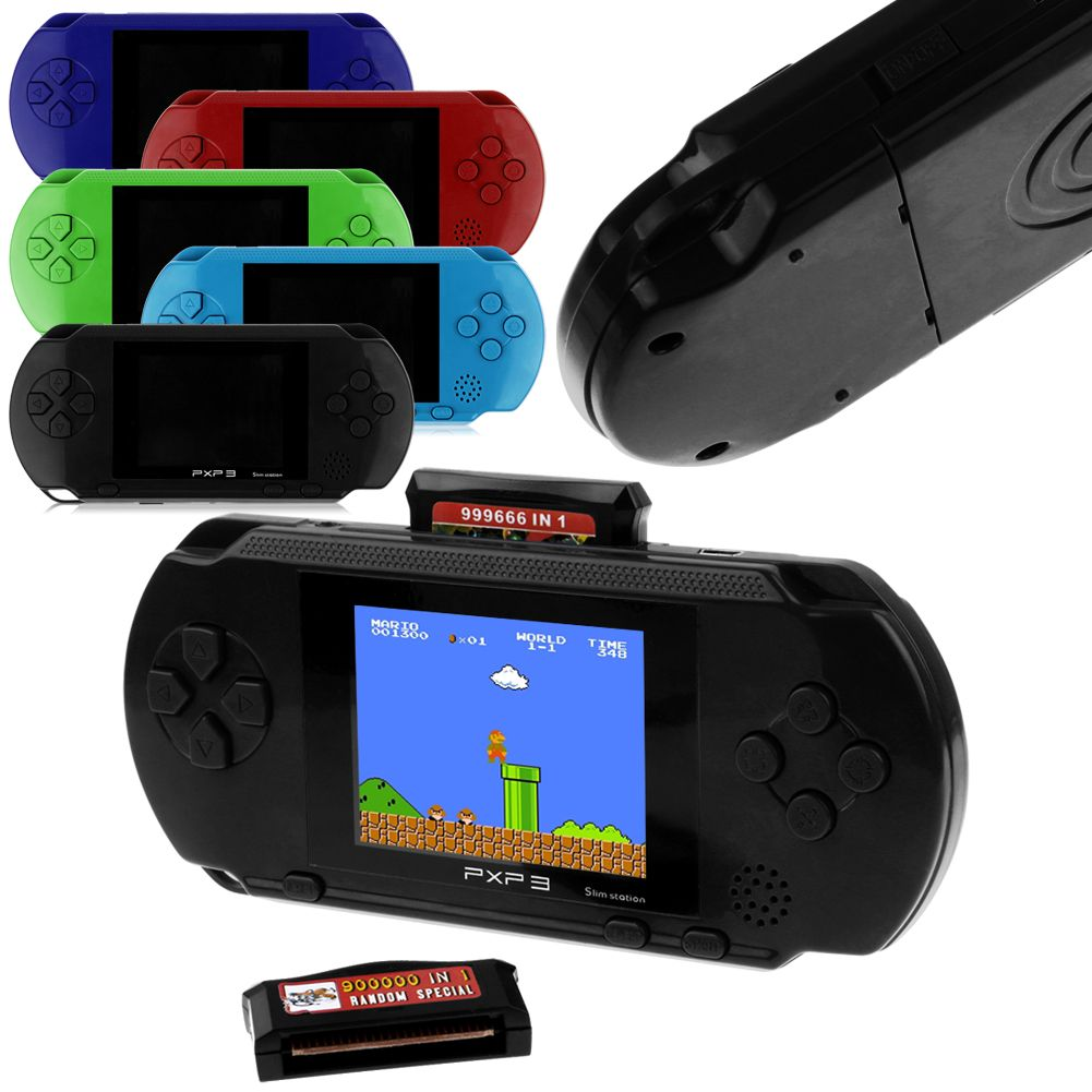 2 8 Lcd Pxp3 Game Console Handheld Portable 16 Bit Retro