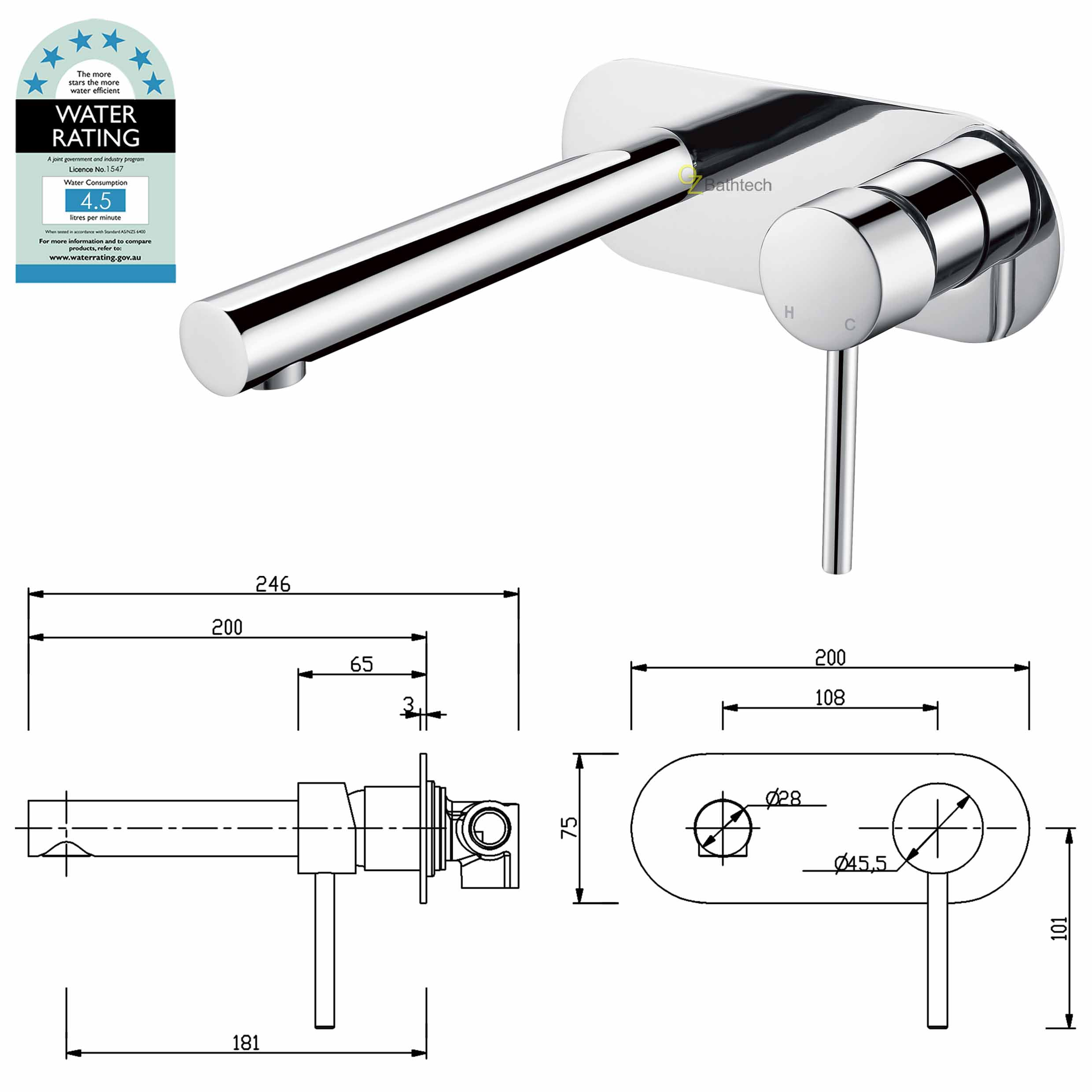 Spa Faucet Pedicure Spa Mixing Valve Bathtub Faucet Mixer: Black Chrome Basin Sink Mixer Kitchen Laundry Bathtub Spa