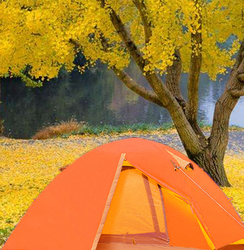 ... you will get a black long 40CM tent pegs. When you choose to buy only one color you will only get the color of the goods; thank you for understanding & Outdoor Orange Waterproof Double-layer 2 Person Tent or Camping ...